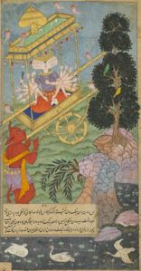 220px-Ravana_seizes_the_chariot_Puspaka_from_Kuvera