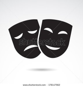 stock-vector-theater-icon-with-happy-and-sad-masks-vector-illustration-178147562
